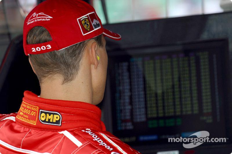 Michael Schumacher checks timing