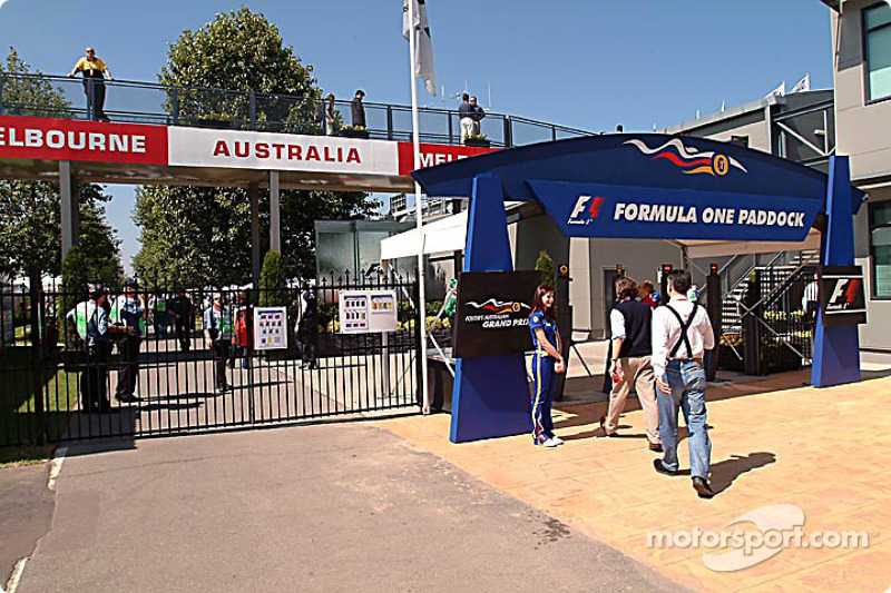 Albert Park Circuit paddock entrance