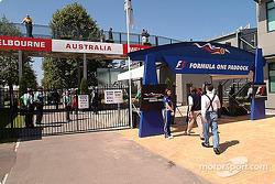 Albert Park Circuit paddock entrance