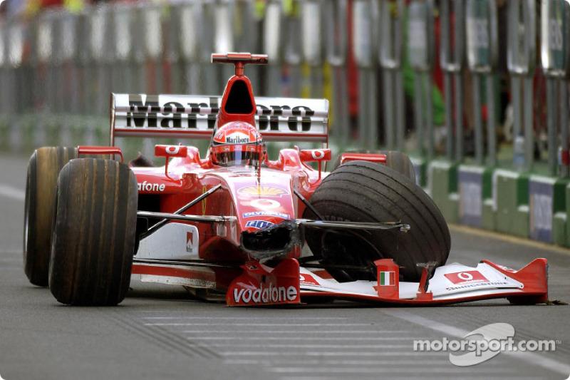 Michael Schumacher with a modified Ferrari