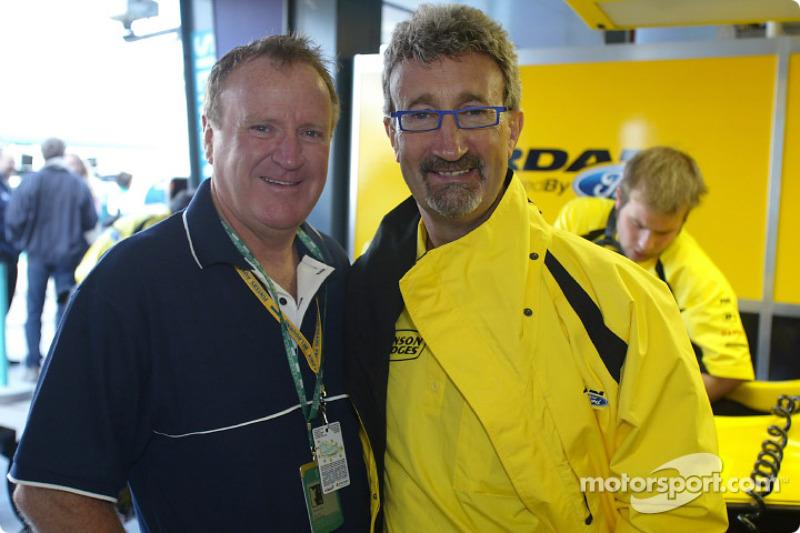 Geoff Polites, President of Ford Australia, with Eddie Jordan
