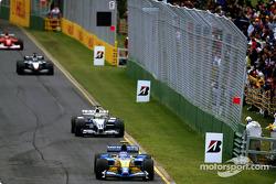 Jarno Trulli ahead of Ralf Schumacher