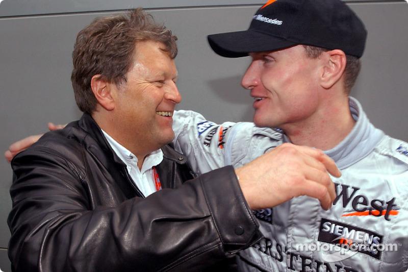 Norbert Haug and David Coulthard