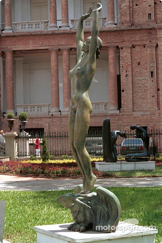 Sculpture at the Pinacoteca museum