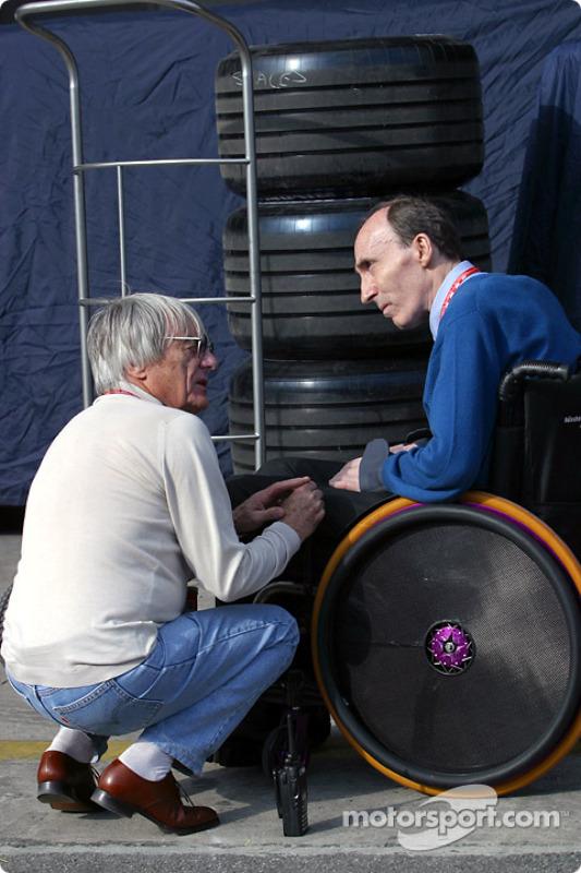 Bernie Ecclestone and Frank Williams