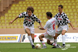 Football match at Stade Louis II in Monaco: Michael Schumacher