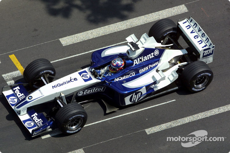 2003: Ganador de la carrera Juan Pablo Montoya (Williams-BMW FW25)