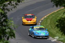 #41 Planet Earth Motorsports Porsche 911: Wayne Nonnamaker, Joe Nonnamaker, and #45 Michael Baughman Racing Firebird: Mike Yeakle, Frank DelVecchio