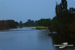Beautiful evening on the Sarthe river