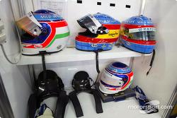 Renault F1 drivers helmets