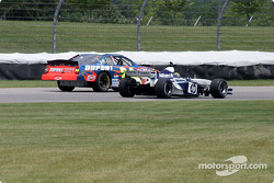The DuPont Chevrolet, left, and HP Williams-BMW FW24