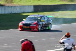 Jones experiences a smoking rear tyre