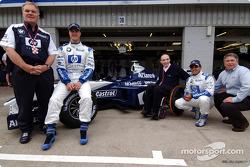 Budweiser announcement: Patrick Head, Ralf Schumacher, Frank Williams and Juan Pablo Montoya