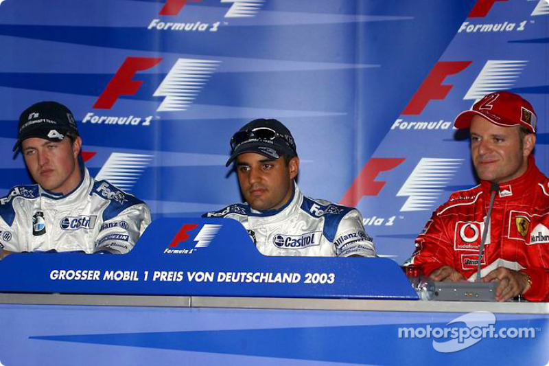 Press conference: Juan Pablo Montoya, Ralf Schumacher and Rubens Barrichello