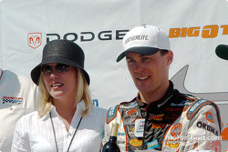 Race winner Kevin Harvick