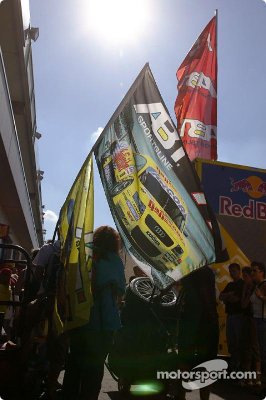 Abt-Audi fans in the paddock