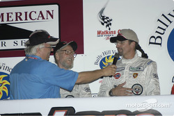 Kyle Petty on podium with Paul Newman