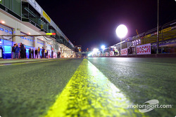 Pitlane at night
