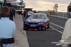 Marcos Ambrose pits after grabbing pole position for Sundayís race