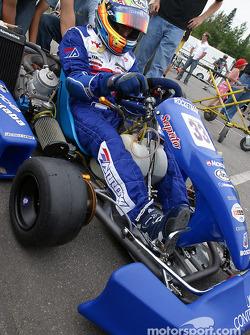Rocketsports-Tagliani karting event: Alex Tagliani prepares to take off