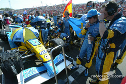 Fernando Alonso on starting grid