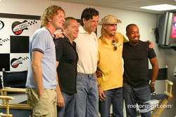 Michael Waltrip with Hootie and the Blowfish