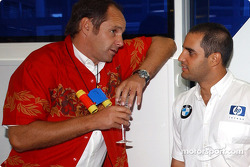 BMW Motorsport Director Gerhard Berger retirement party: Gerhard Berger and Juan Pablo Montoya
