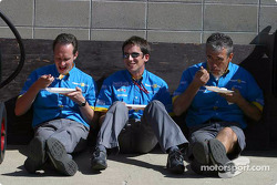 Renault F1 team members have lunch