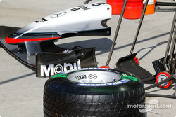 McLaren nose cone and Michelin tire