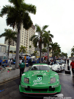 American Le Mans Series teams prepare their cars for battle