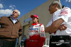 Roger Penske, Cristiano da Matta and Tsutomu Tomita