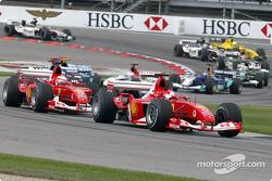 Start: Michael Schumacher and Rubens Barrichello