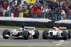 Jos Verstappen and Jenson Button