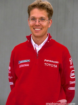 Toyota photo shoot: Race Engineer Ossi Oikarinen