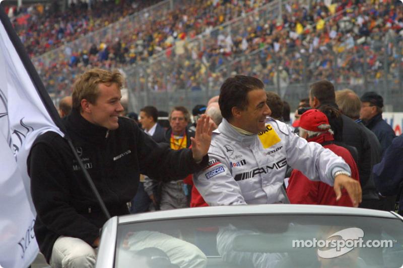 Drivers presentation: Marcel Fassler and Jean Alesi