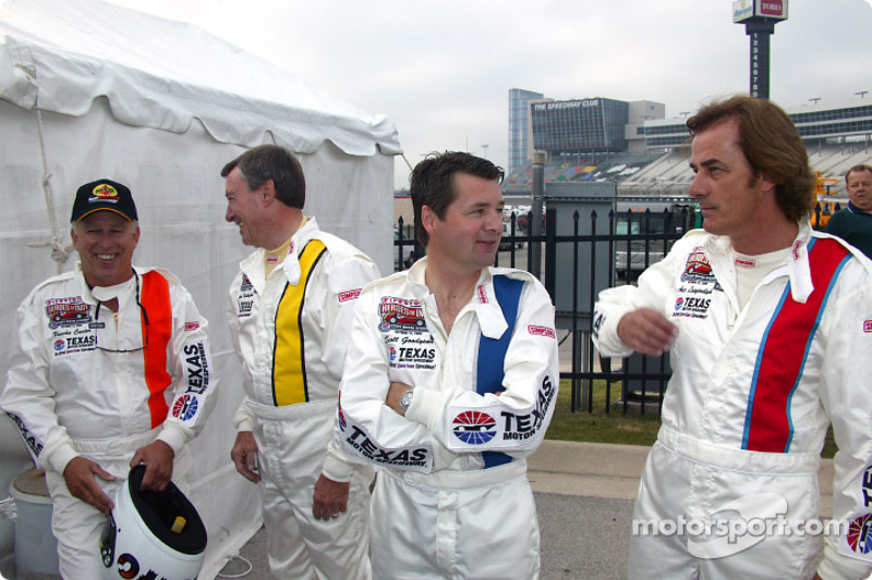 Pancho Carter, Johnny Rutherford, Scott Goodyear and Arie Luyendyk