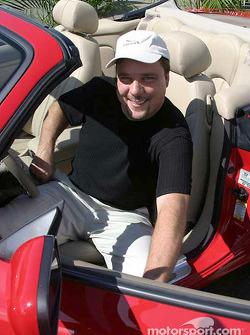 Johnny Miller wins the 2003 Jaguar XK8 pole award car