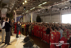 Ferrari celebrations at Maranello