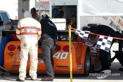 #40 Derhaag Motorsports Corvette at the gas pump