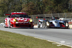 #89 Inline Cunningham Racing Porsche 911 GT3RS: Burt Frisselle, Oswaldo Negri, and #11 JML Team Panoz Panoz LMP01 EPP: Gunnar Jeannette, Scott Maxwell, Ben Leuenberger