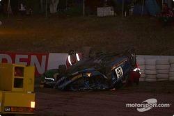 #26 Wayne Russell BMW M Coupe: Mark Westbrook, Wayne Moore, Ian Mitchell crashes