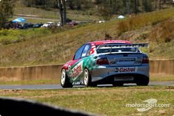 Paul Dumbrell down the back straight