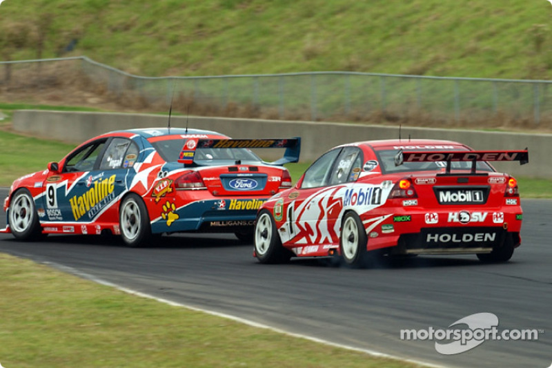 The Enforcer Russell Ingall keeping Mark Skaife at bay