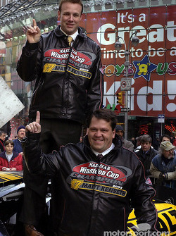 Matt Kenseth and Robbie Reiser in Time Square