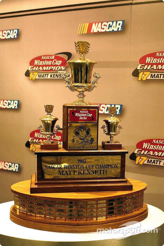 The last Winston Cup Trophy was awarded to Matt Kenseth at Champions Week