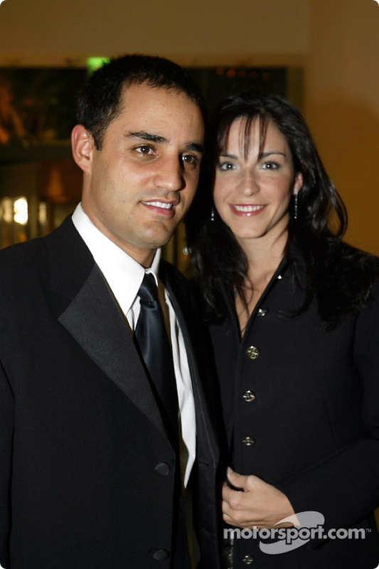 Juan Pablo Montoya with his wife Connie