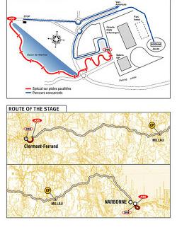 Stage 1: 2004-01-01,Région d'Auvergne to Narbonne
