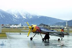 Red Bull plane outside Hangar-7