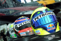 The helmets of Massa, Jani and Fisichella