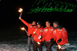 Luca Badoer, Loris Capirossi, Michael Schumacher ve Rubens Barrichello